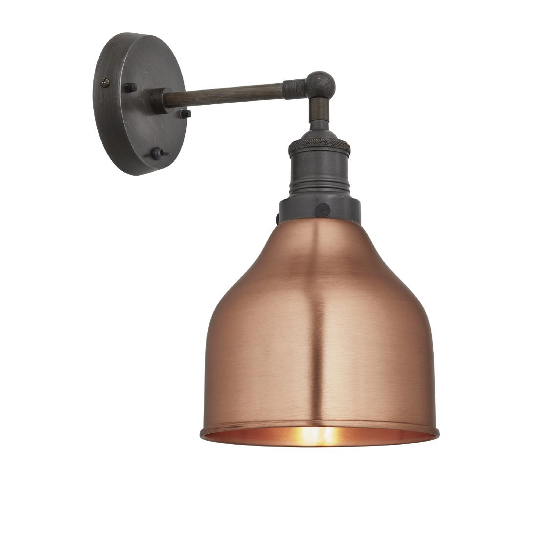 Image of Industville Brooklyn Cone Wall Light Copper 180mm