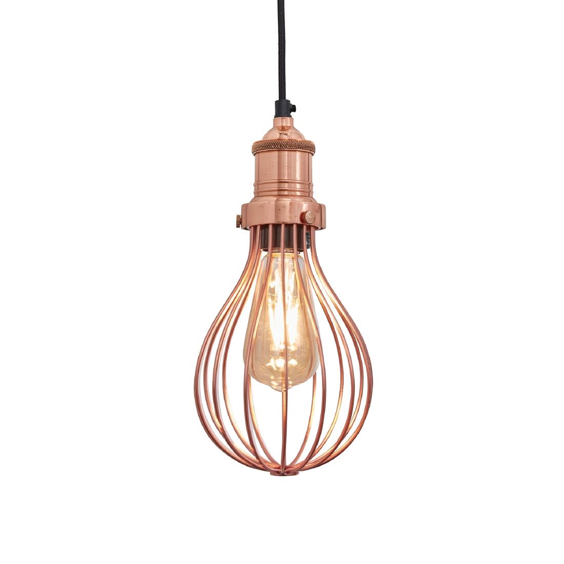 Image of Industville Brooklyn Balloon Cage Pendant Copper 155mm