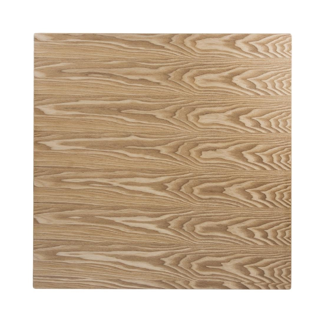 Click to view product details and reviews for Bolero Pre Drilled Square Table Top Natural Ash Veneer 700mm.