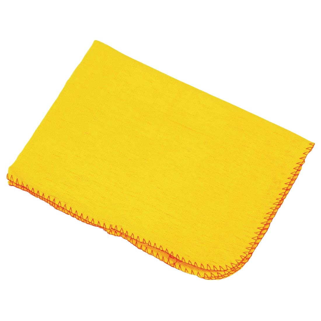 A yellow cloth duster to use as a sensory prop.