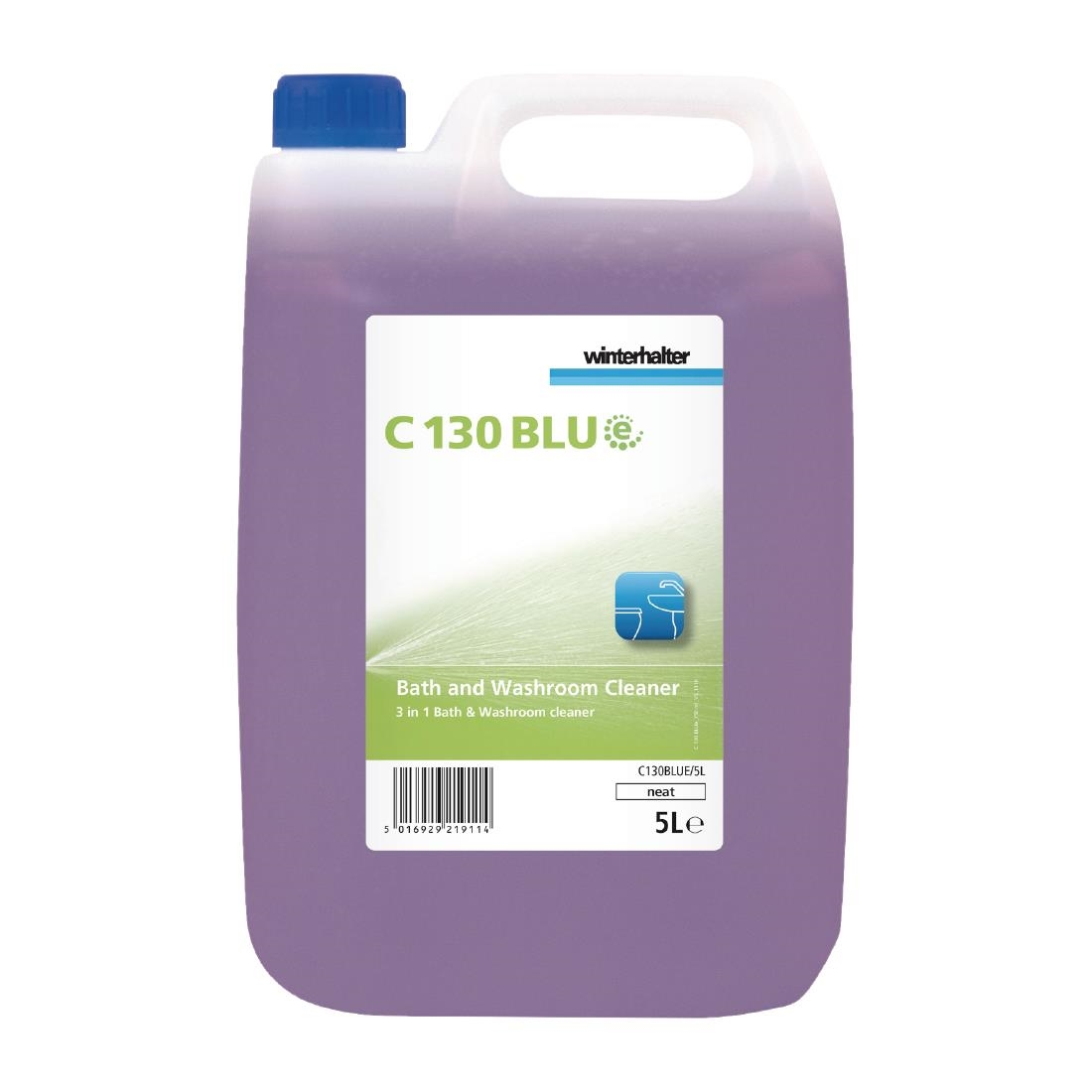 Winterhalter C130 BLUe Bath and Washroom Cleaner Ready To Use 5Ltr (2 Pack)