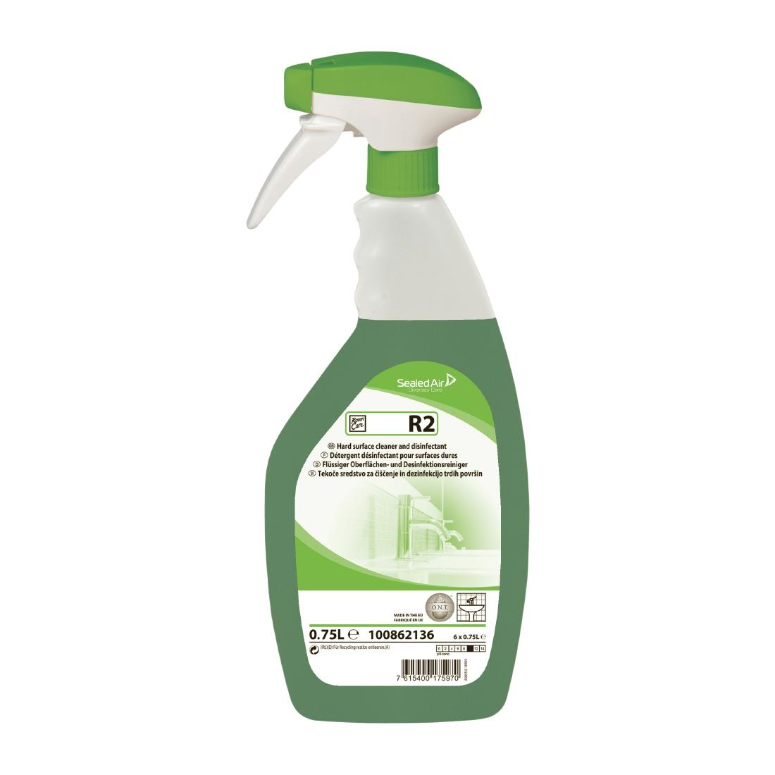 Image of Room Care R2 Hard Surface Cleaner and Disinfectant Ready To Use 750ml (6 Pack) Pack of 6