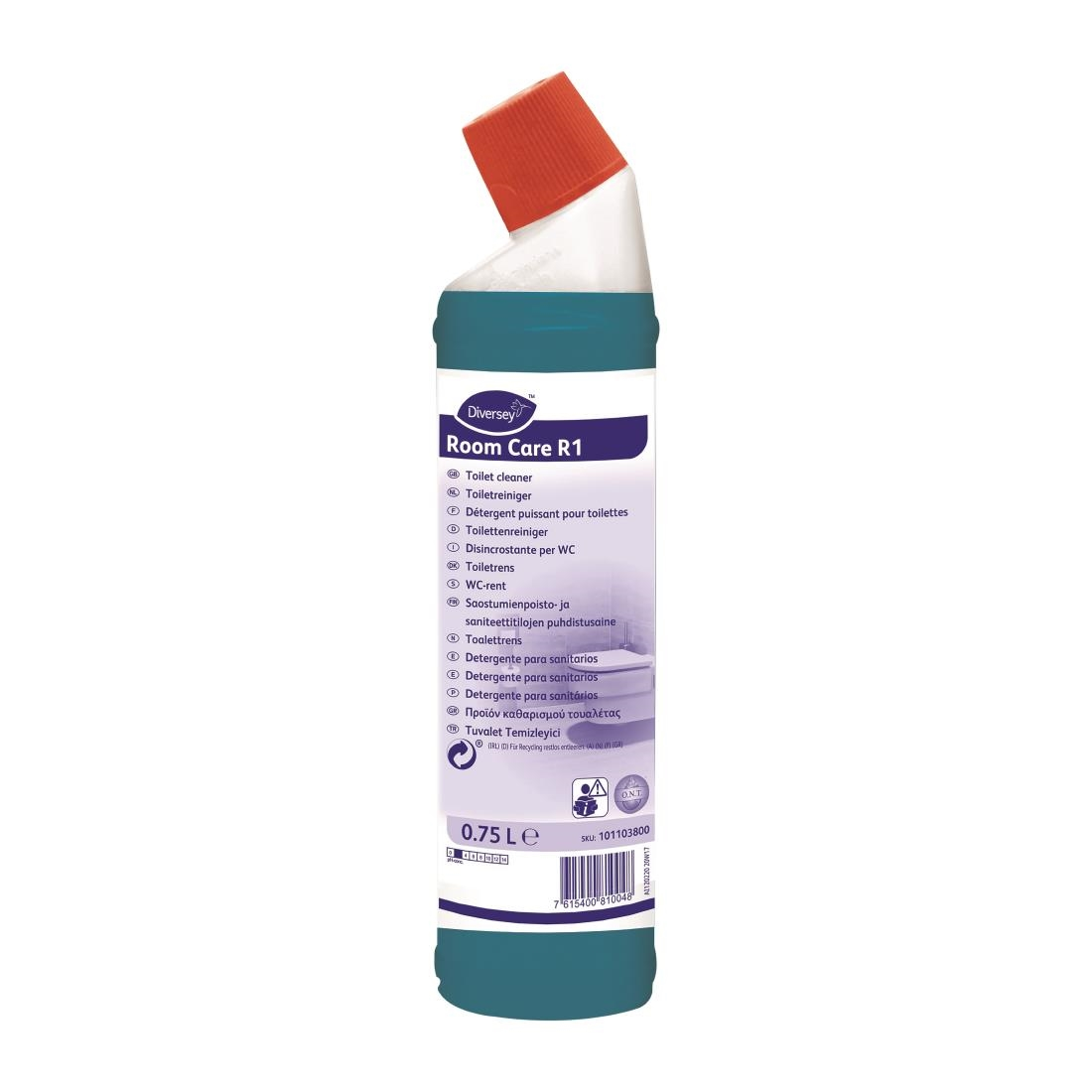 Image of Room Care R1 Toilet Cleaner Ready To Use 750ml (6 Pack) Pack of 6