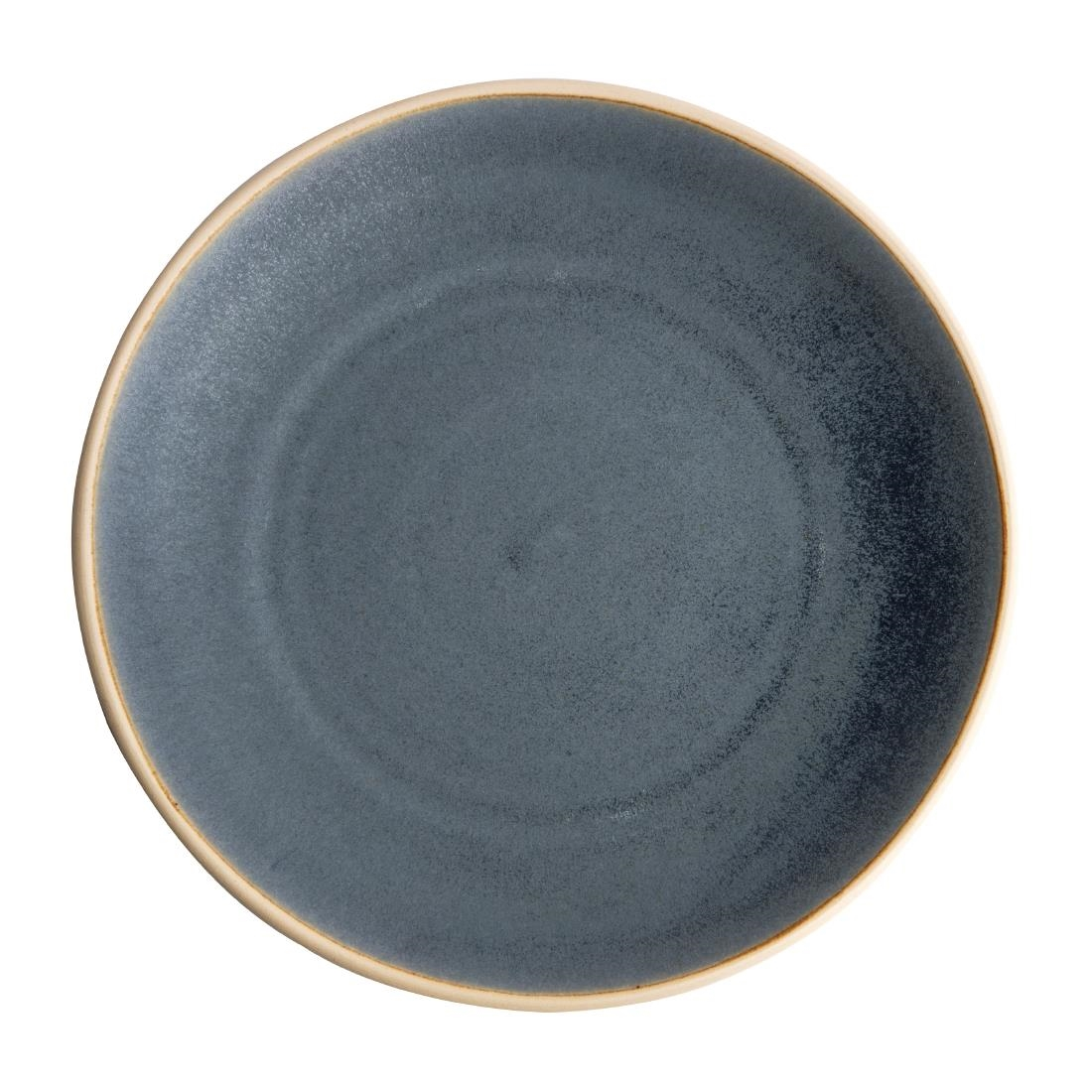 Olympia Canvas Concave Plate Blue Granite 270mm Pack of 6