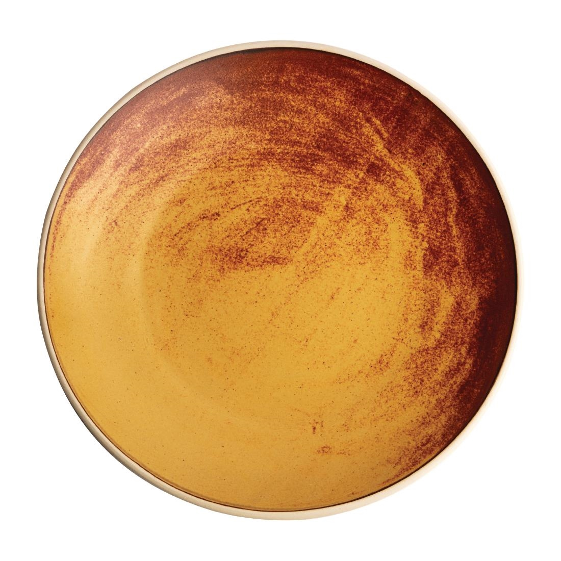 Olympia Canvas Concave Plate Sienna Rust 270mm Pack of 6