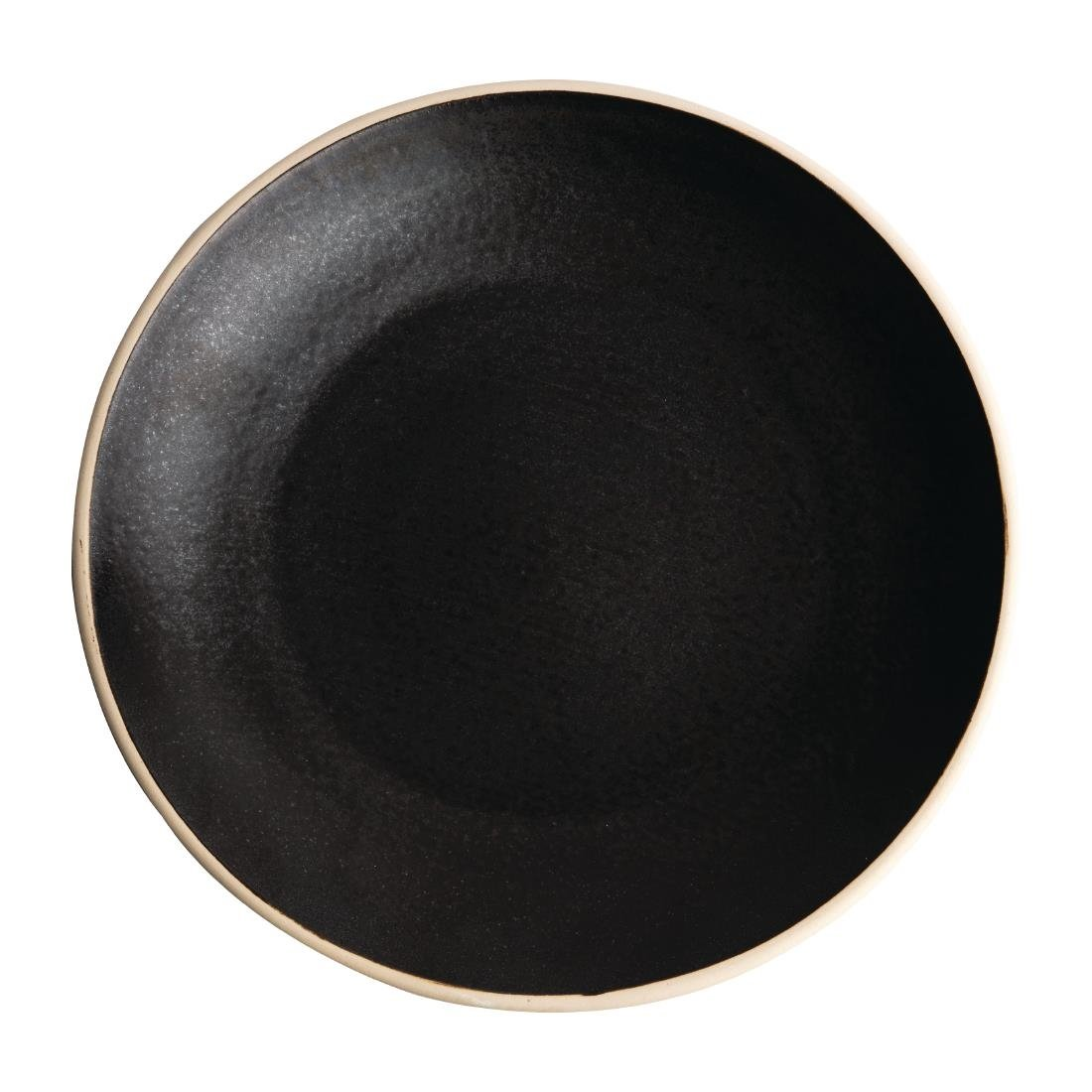Olympia Canvas Concave Plate Delhi Black 270mm Pack of 6