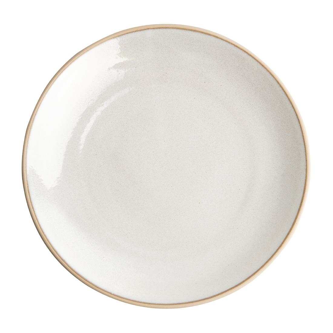 Olympia Canvas Concave Plate Murano White 270mm Pack of 6