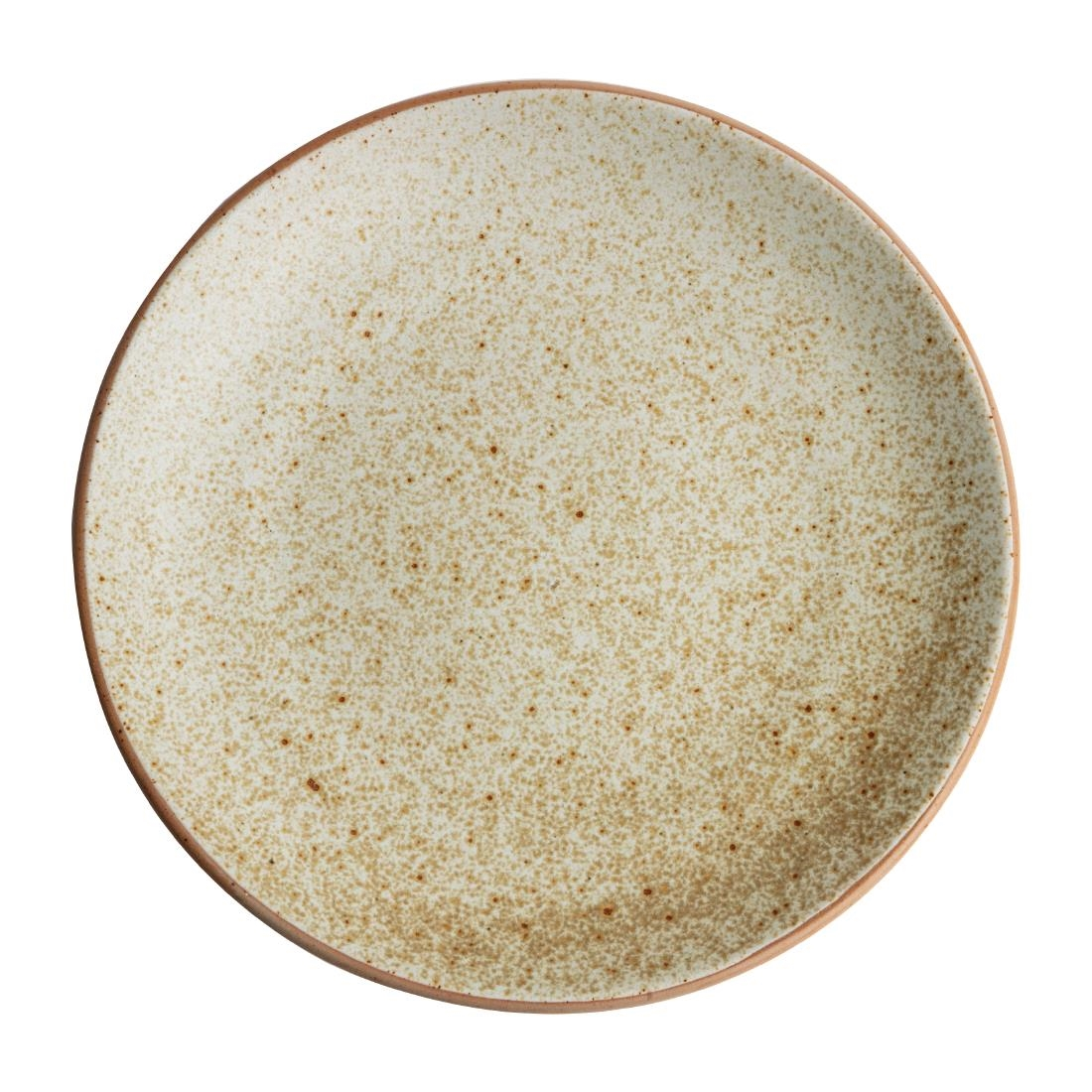 Olympia Canvas Concave Plate Wheat 270mm Pack of 6