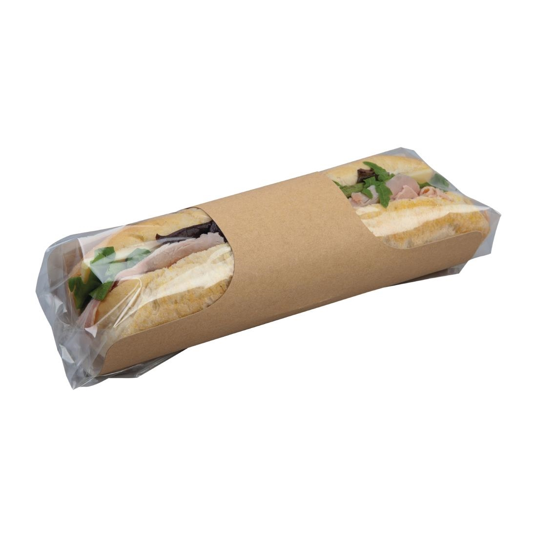 Image of Colpac Clasp Clip Recyclable Kraft Baguette Packs (Pack of 500) Pack of 500