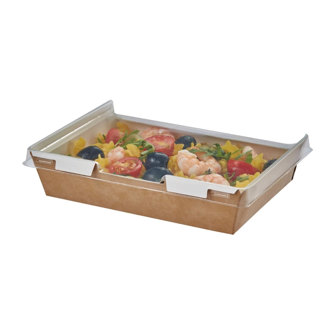 Image of Colpac Combione Recyclable Kraft Food Trays With Lid 1110ml / 39oz (Pack of 200) Pack of 200