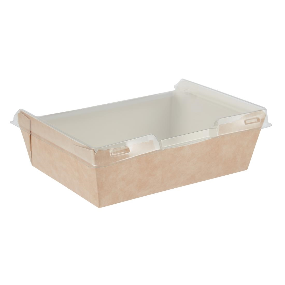 Image of Colpac Combione Recyclable Kraft Food Trays With Lid 910ml / 32oz (Pack of 200) Pack of 200