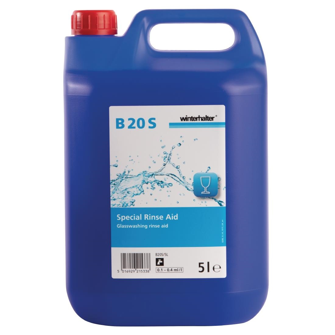 Winterhalter B20S Glasswasher Rinse Aid Concentrate 5Ltr (2 Pack) Pack of 2