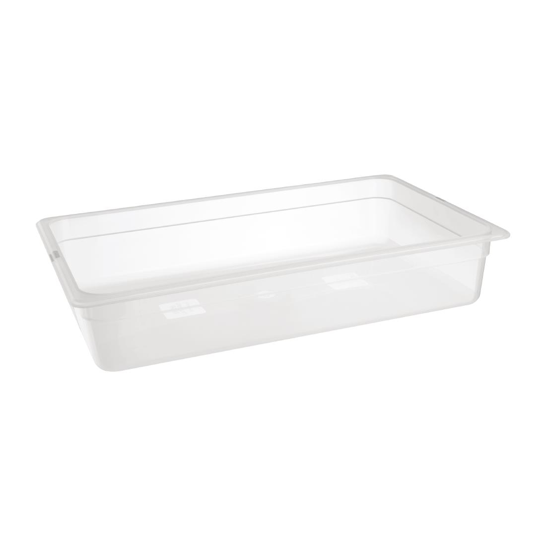 Image of Nisbets Essentials Polypropylene 1/1 Gastronorm 100mm