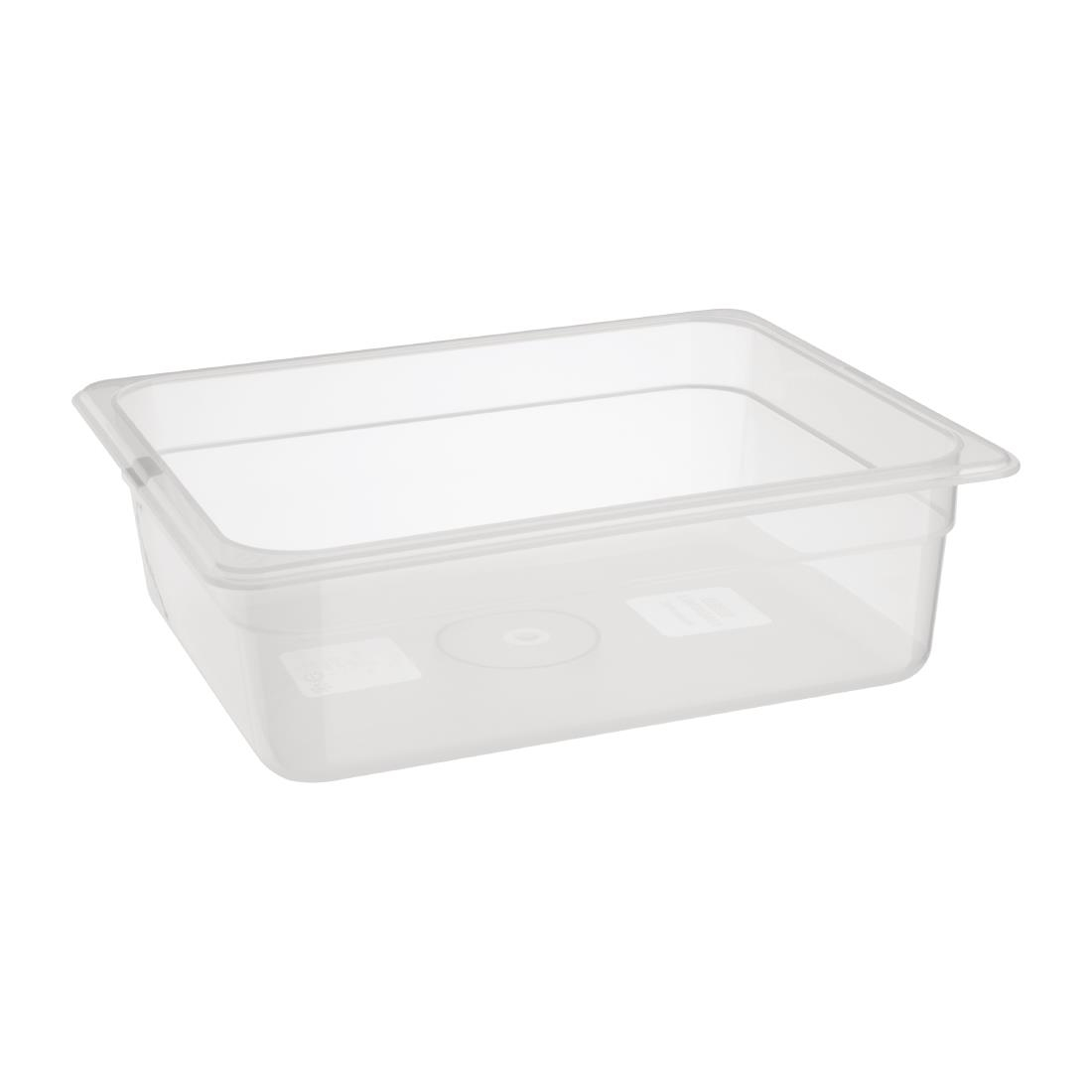 Image of Nisbets Essentials Polypropylene 1/2 Gastronorm 100mm