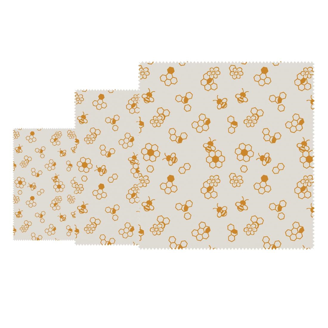 Image of Bees Wax Wrap Honeycomb Assorted (Pack of 3) Pack of 3