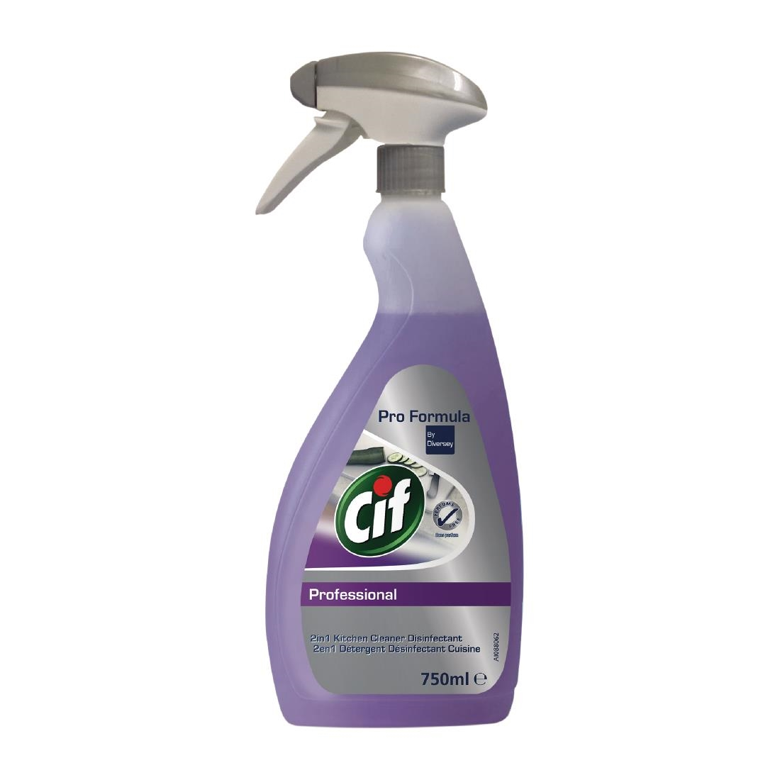 Image of Cif Pro Formula 2-in-1 Cleaner and Disinfectant Ready To Use 750ml (6 Pack) Pack of 6