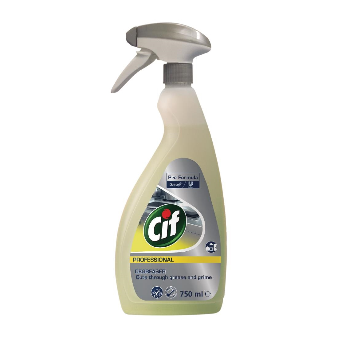 Image of Cif Pro Formula Power Kitchen Degreaser Ready To Use 750ml (6 Pack) Pack of 6
