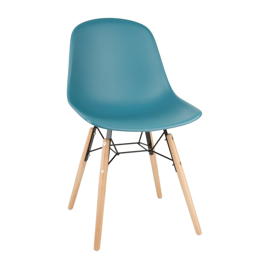 Image of Bolero Arlo Side Chairs Teal (Pack of 2) Pack of 2
