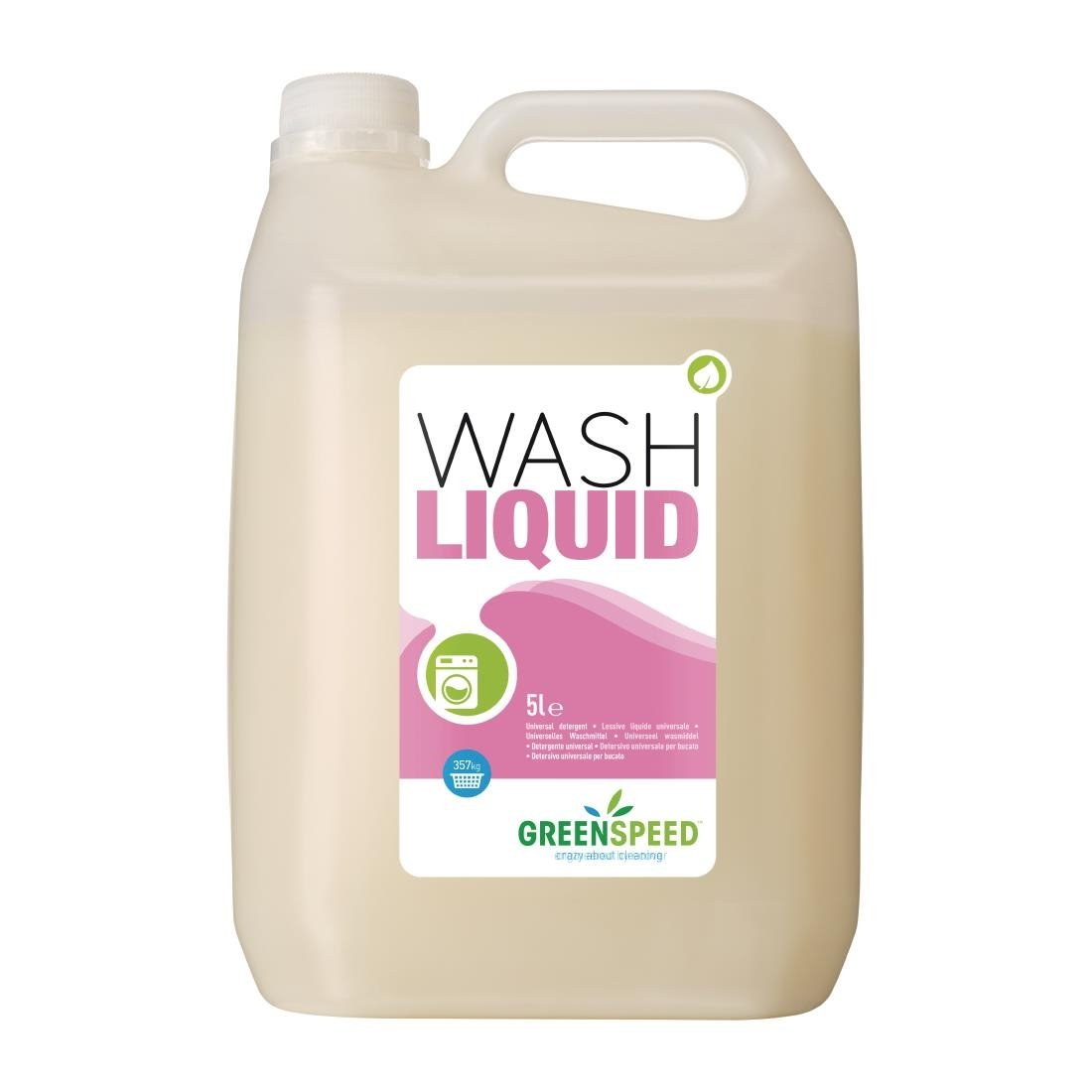 Image of Greenspeed Biological Liquid Laundry Detergent Concentrate 5Ltr (4 Pack) Pack of 4