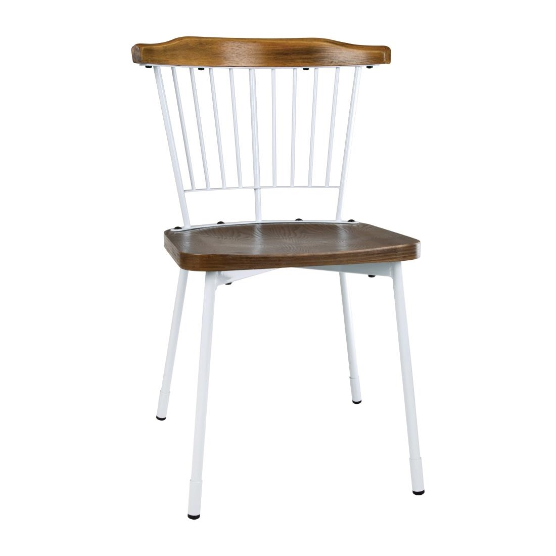 Image of Bolero Scandi Side Chairs White (Pack of 2) Pack of 2