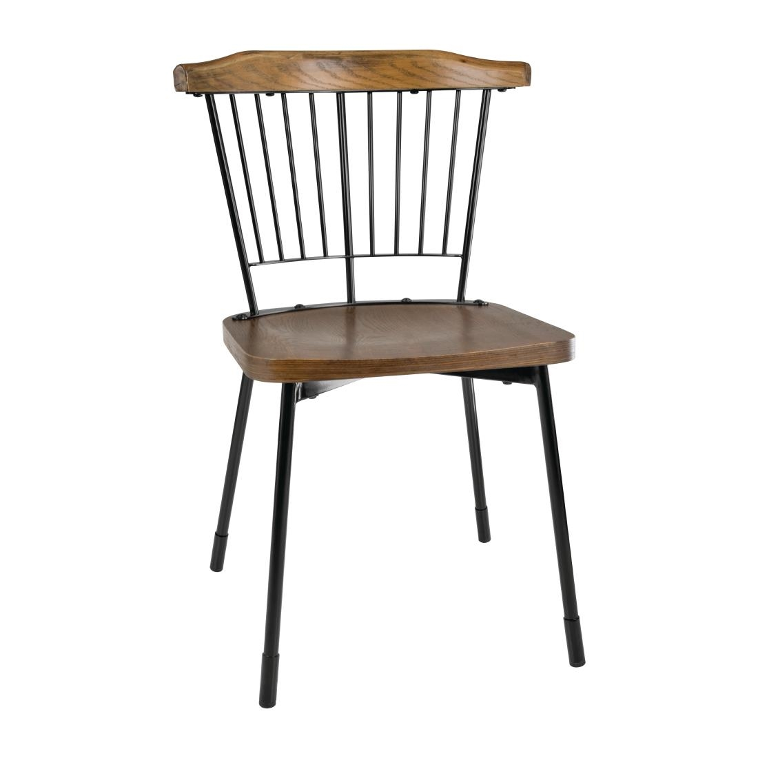 Image of Bolero Scandi Side Chairs Black (Pack of 2) Pack of 2
