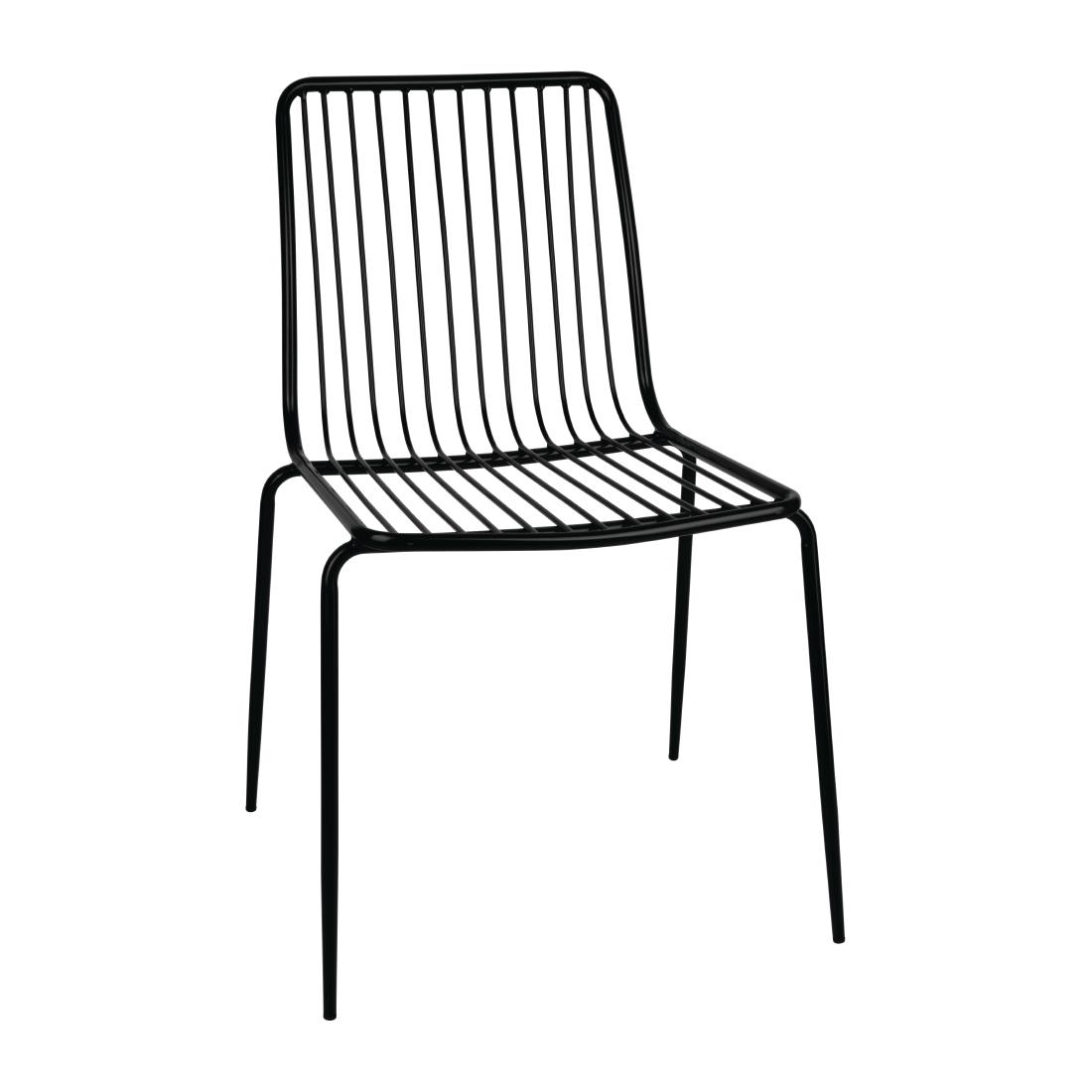 Image of Bolero Steel Wire Dining Chairs (Pack of 4) Pack of 4
