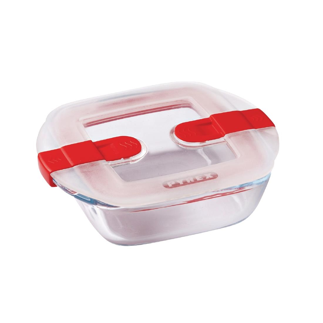 Image of Pyrex Cook and Heat Square Dish with Lid 350ml