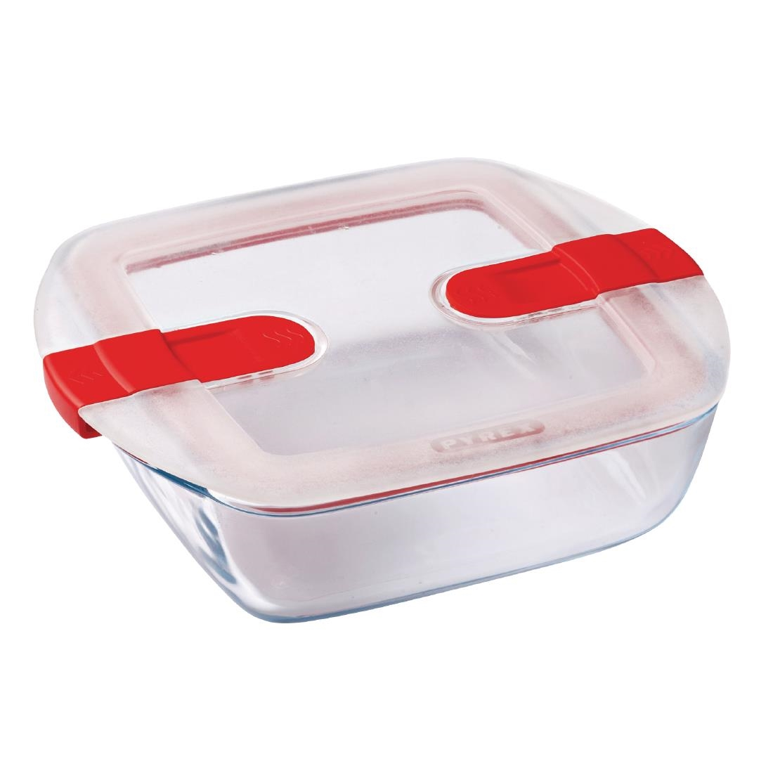 Image of Pyrex Cook and Heat Square Dish with Lid 1Ltr