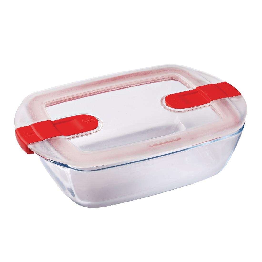Image of Pyrex Cook and Heat Rectangular Dish with Lid 1Ltr