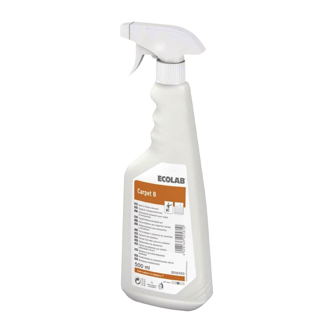 Image of Ecolab Carpet B Carpet Cleaner For Oil & Fat-Based Stains Ready To Use 500ml (6 Pack) Pack of 6