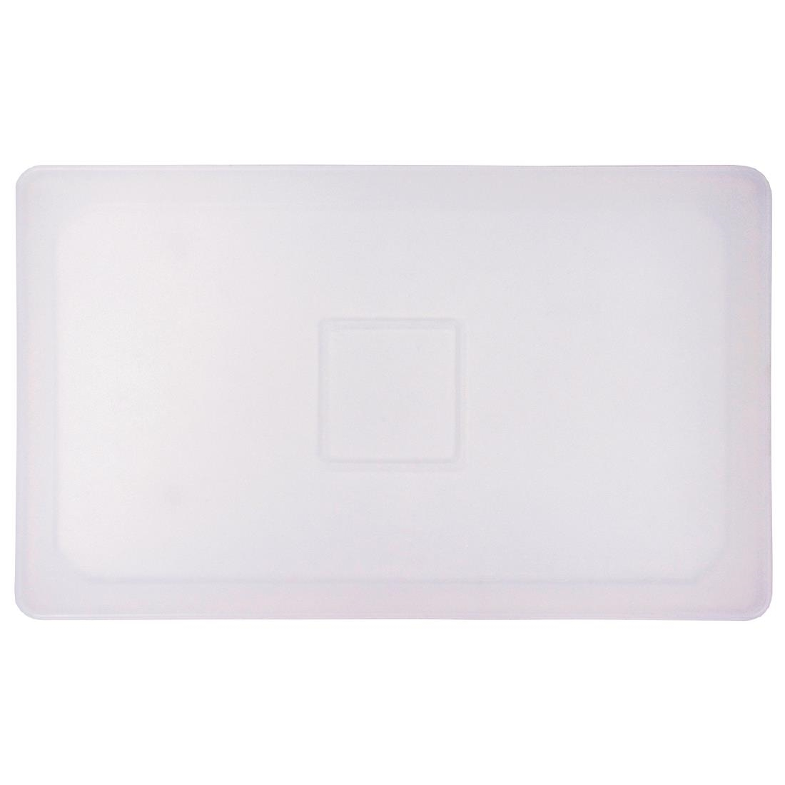 Image of Flexsil Silicone 1/4 Gastronorm Lid Clear