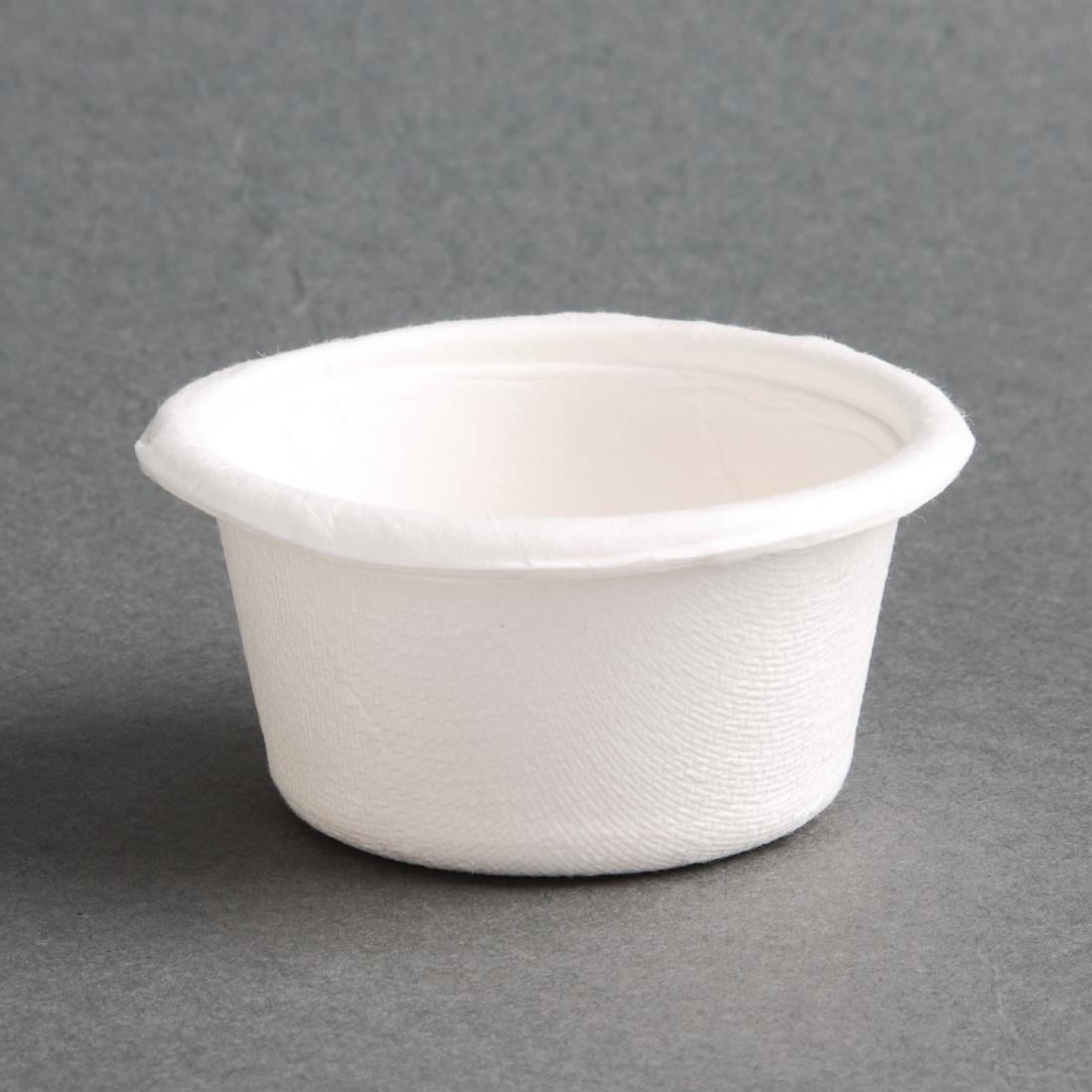 Image of Fiesta Green Bagasse Condiment Pots 59ml (Pack of 1000) Pack of 1000