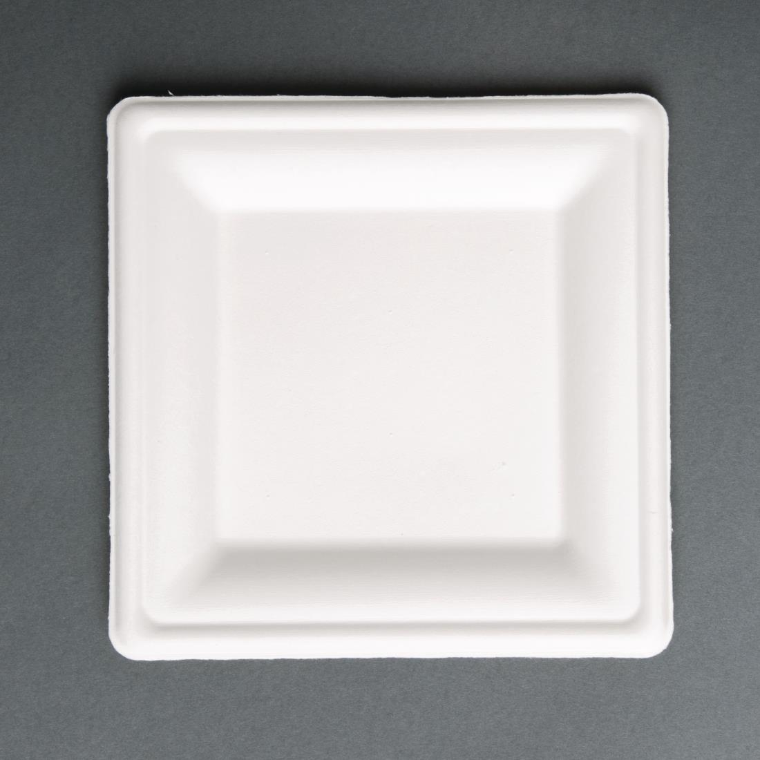 Image of Fiesta Green Compostable Bagasse Square Plates 261mm (Pack of 50) Pack of 50
