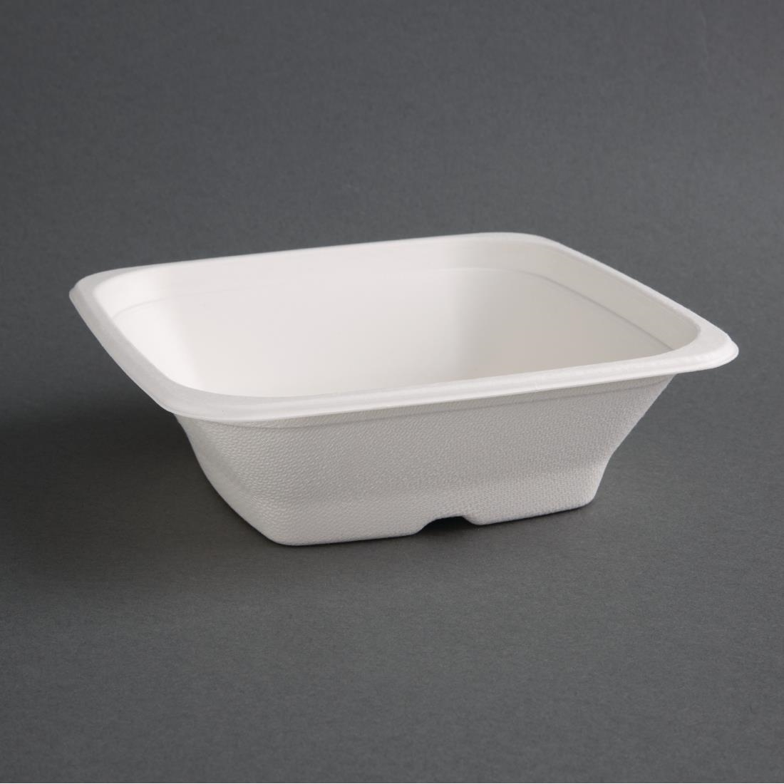 Image of Fiesta Green Compostable Bagasse Square Bowls 24oz (Pack of 50) Pack of 50