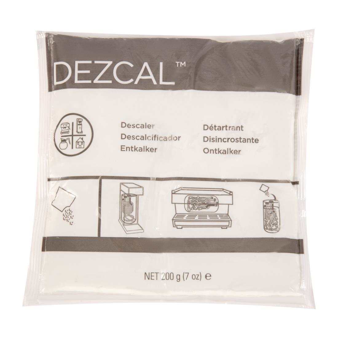 Image of Urnex Dezcal Activated Scale Remover Powder Sachets 28g (100 Pack) Pack of 100