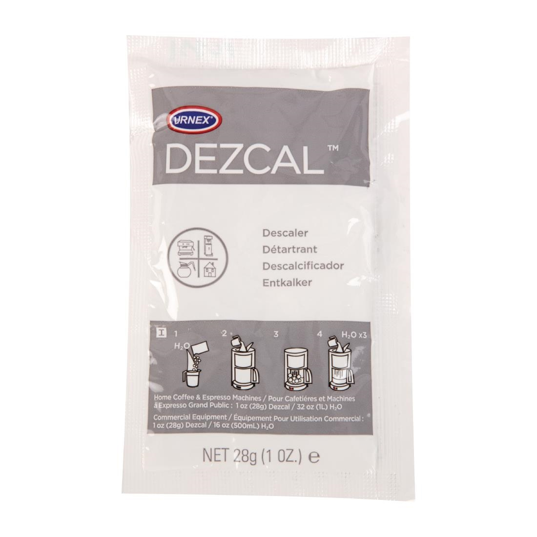Image of Urnex Dezcal Activated Scale Remover Powder Sachets 200g (24 Pack) Pack of 24
