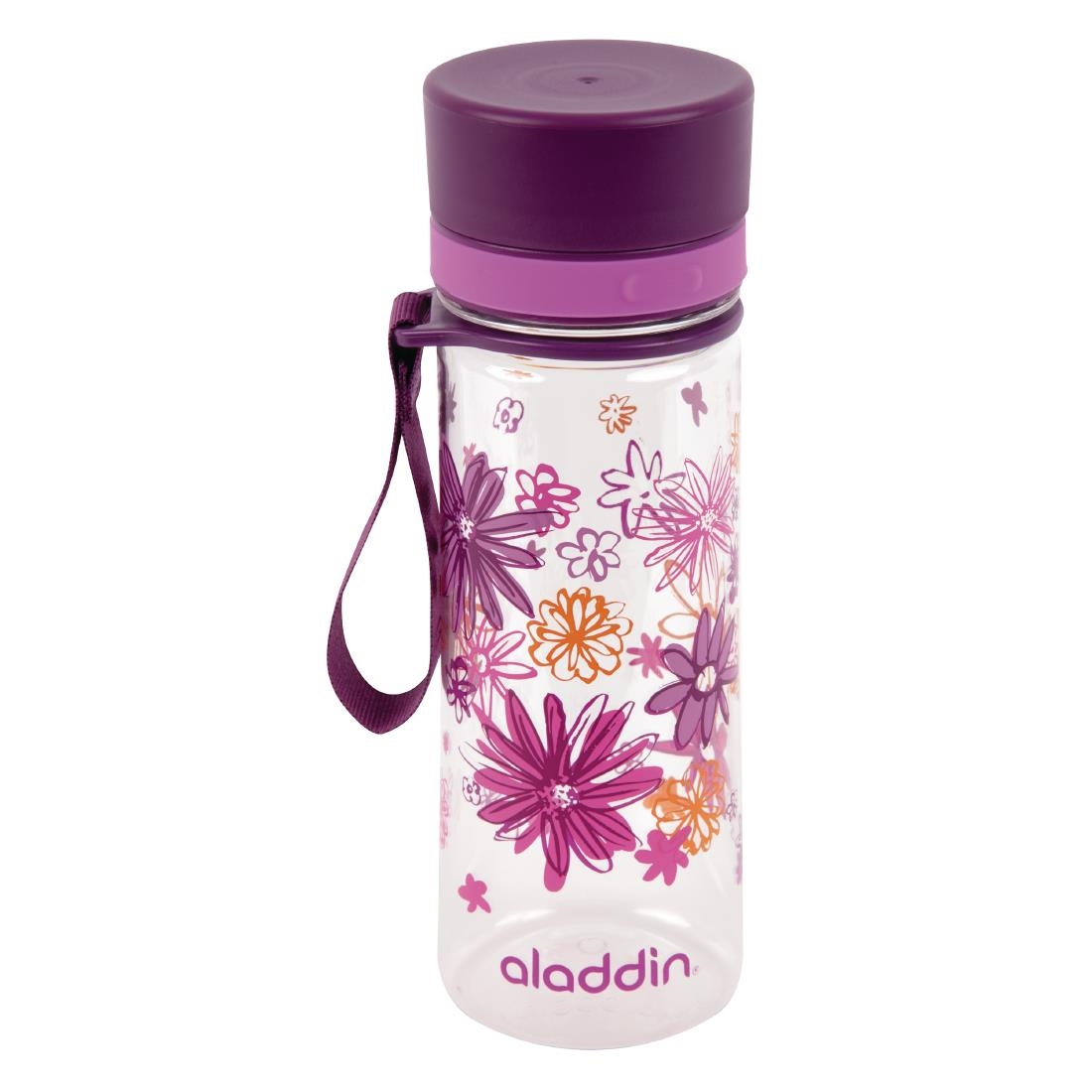 Image of Aladdin Aveo Reusable Water Bottle Purple Graphics 350ml / 12oz