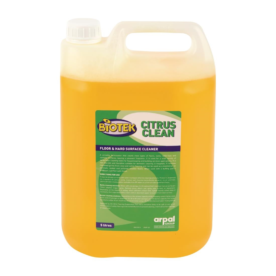 Image of Biotek Citrus Floor and Hard Surface Cleaner Concentrate 5Ltr (2 Pack) Pack of 2