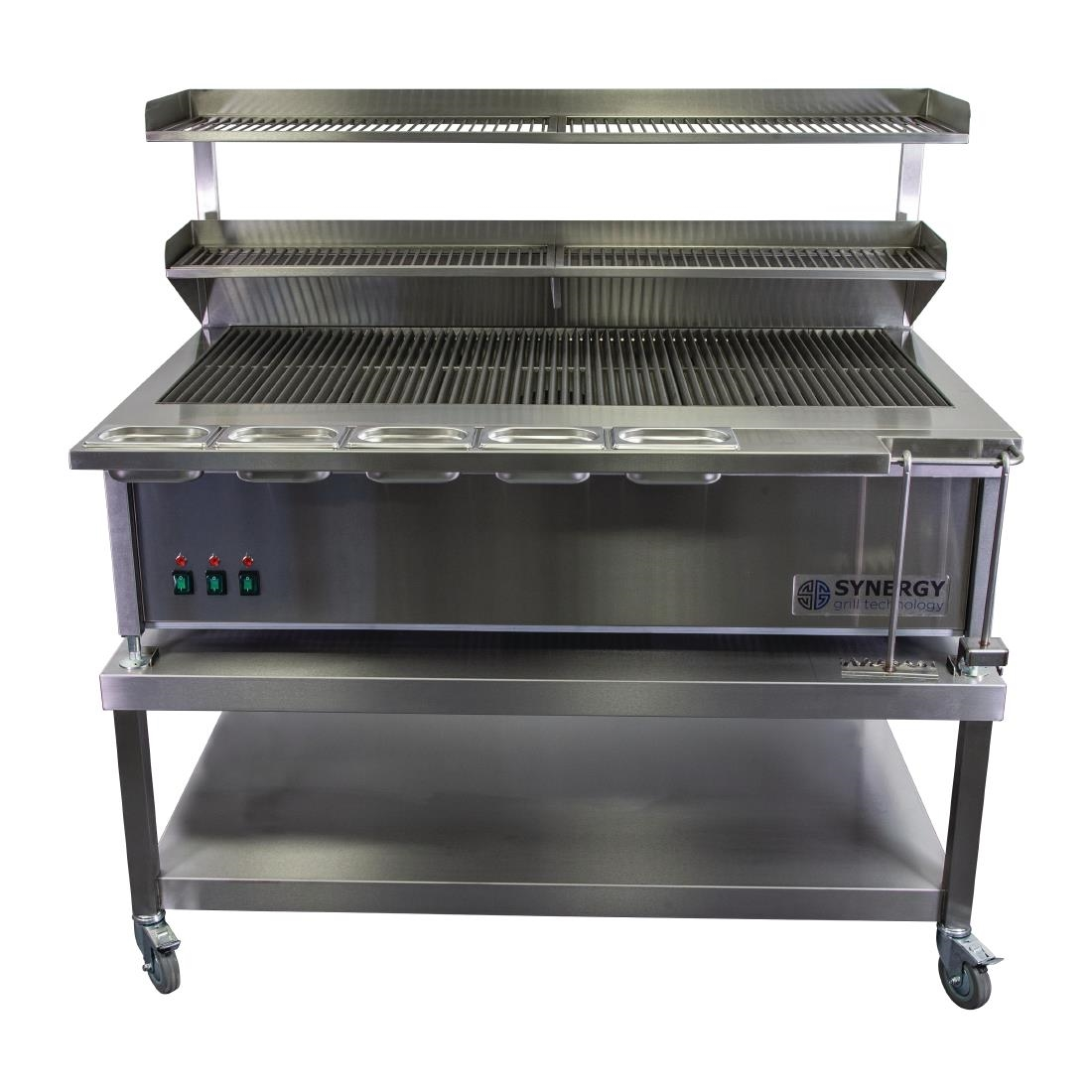 Image of Synergy SG1300 Grill with Garnish Rail and Slow Cook Shelf