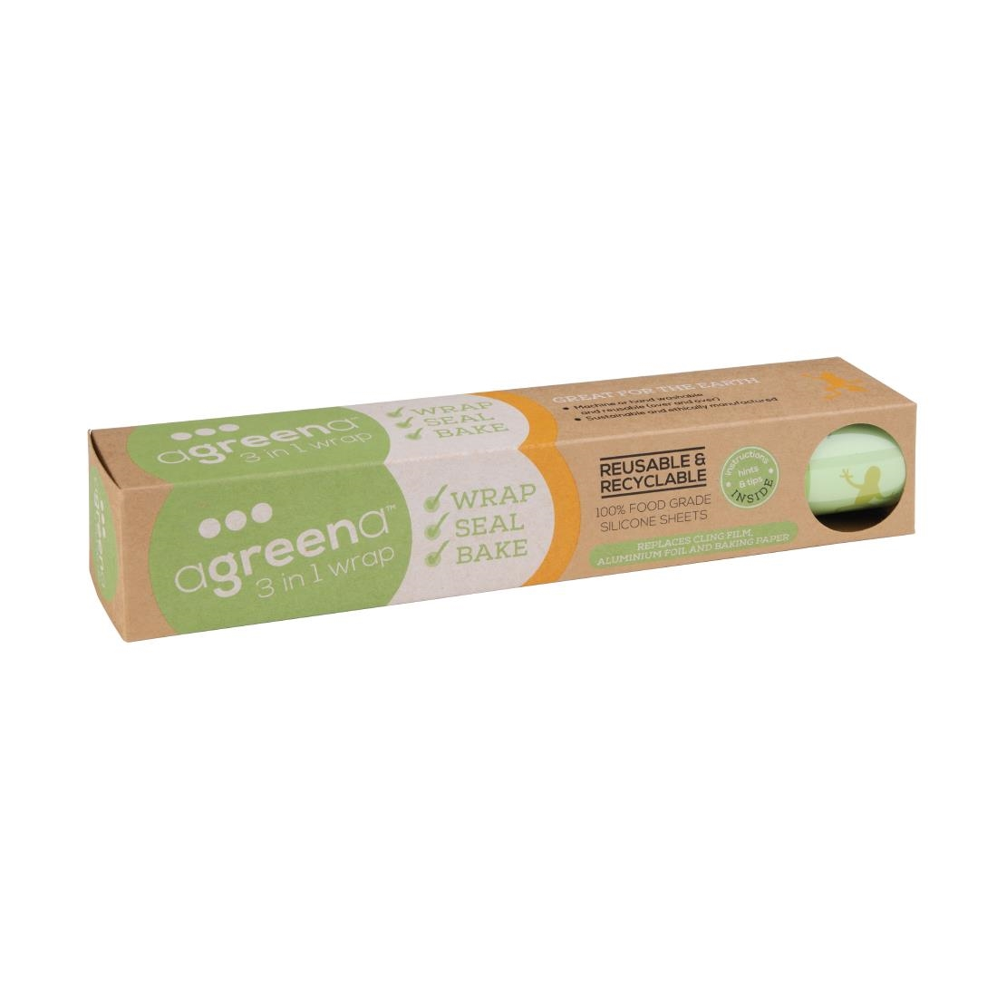 Image of Agreena Three-In-One Reusable Food Wraps 300 x 450mm (Pack of 2) Pack of 2