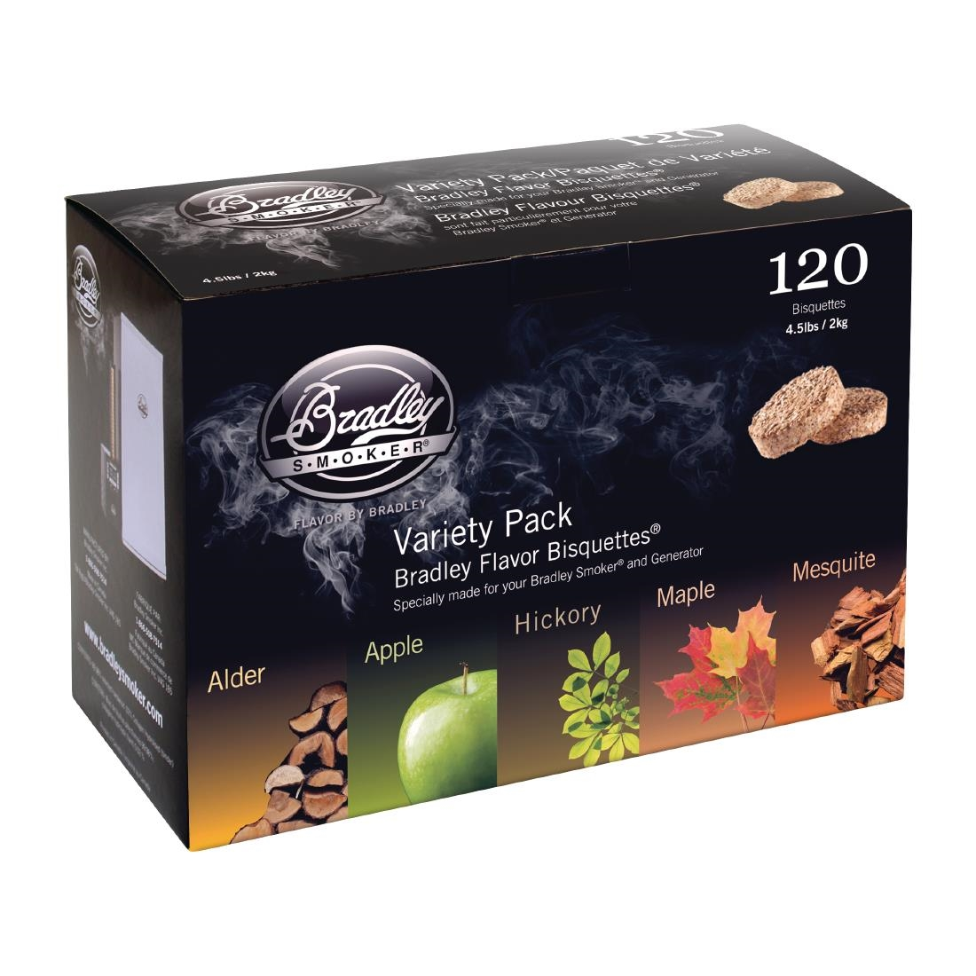 Image of Bradley Food Smoker 5 Flavour Variety Flavour Bisquette (Pack of 120) Pack of 120