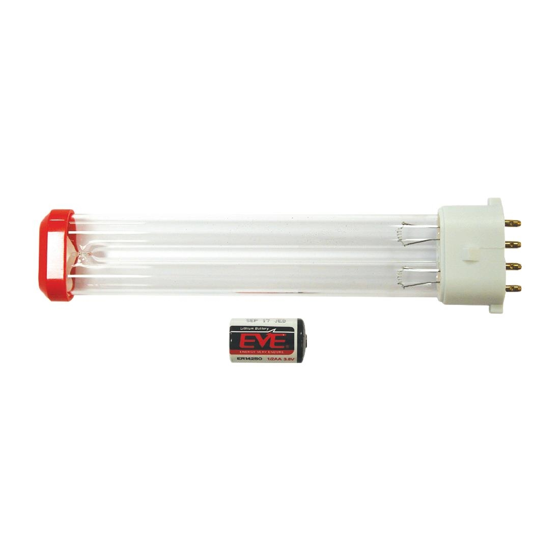 Image of HyGenikx System Replacement Lamp and Battery Red Cap HGX-30-S