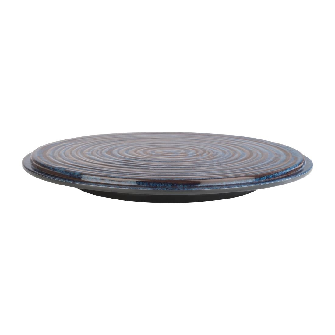 Image of APS Loops Melamine Cake Stand Blue 215mm