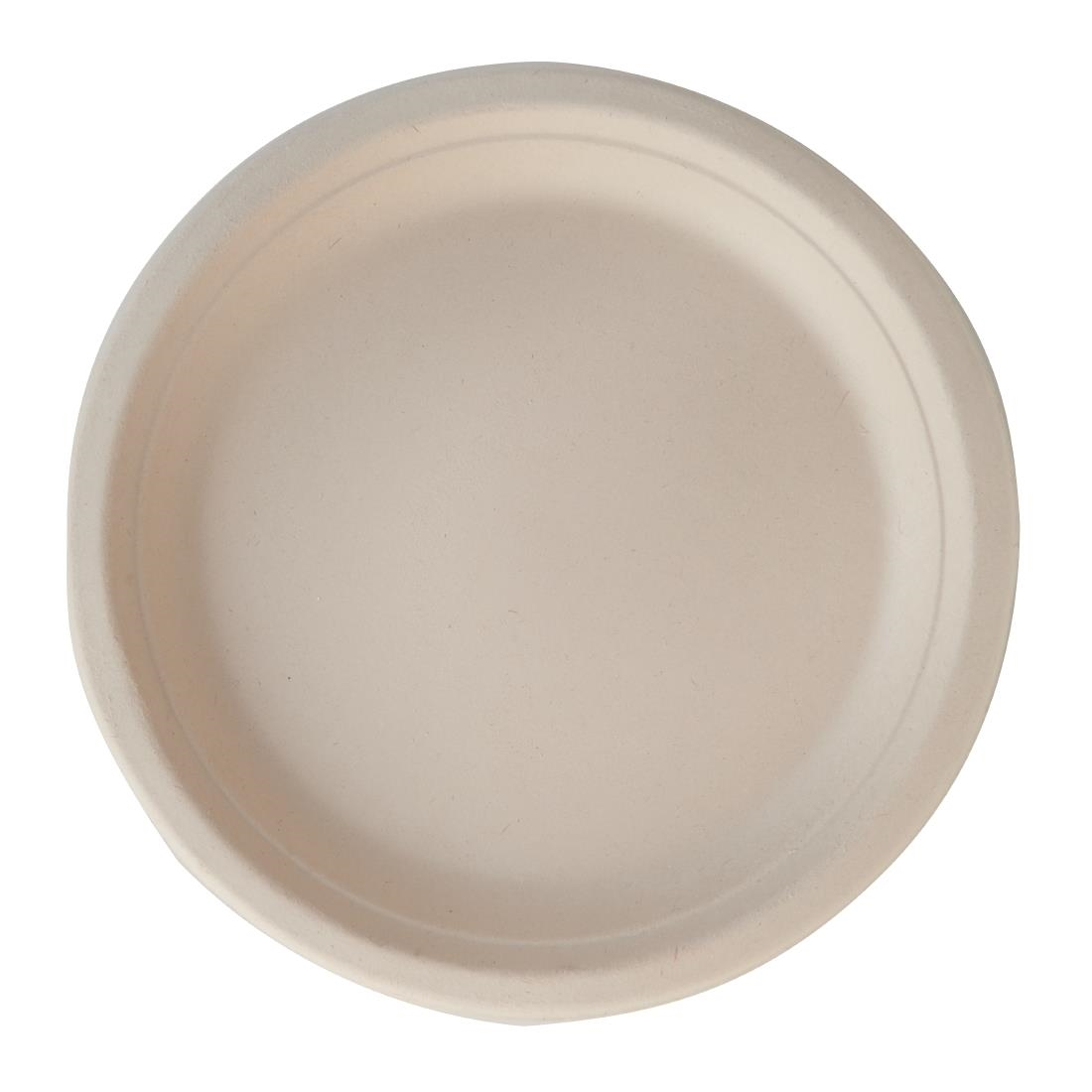 Image of eGreen Eco-Fibre Compostable Wheat Round Plates 250mm (Pack of 1000) Pack of 1000