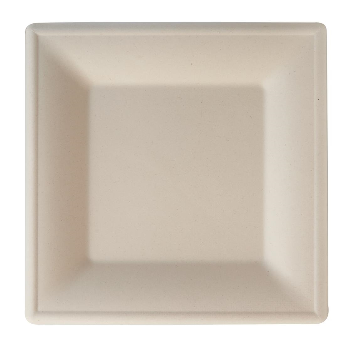 Image of eGreen Eco-Fibre Compostable Wheat Square Plates 260mm (Pack of 500) Pack of 500