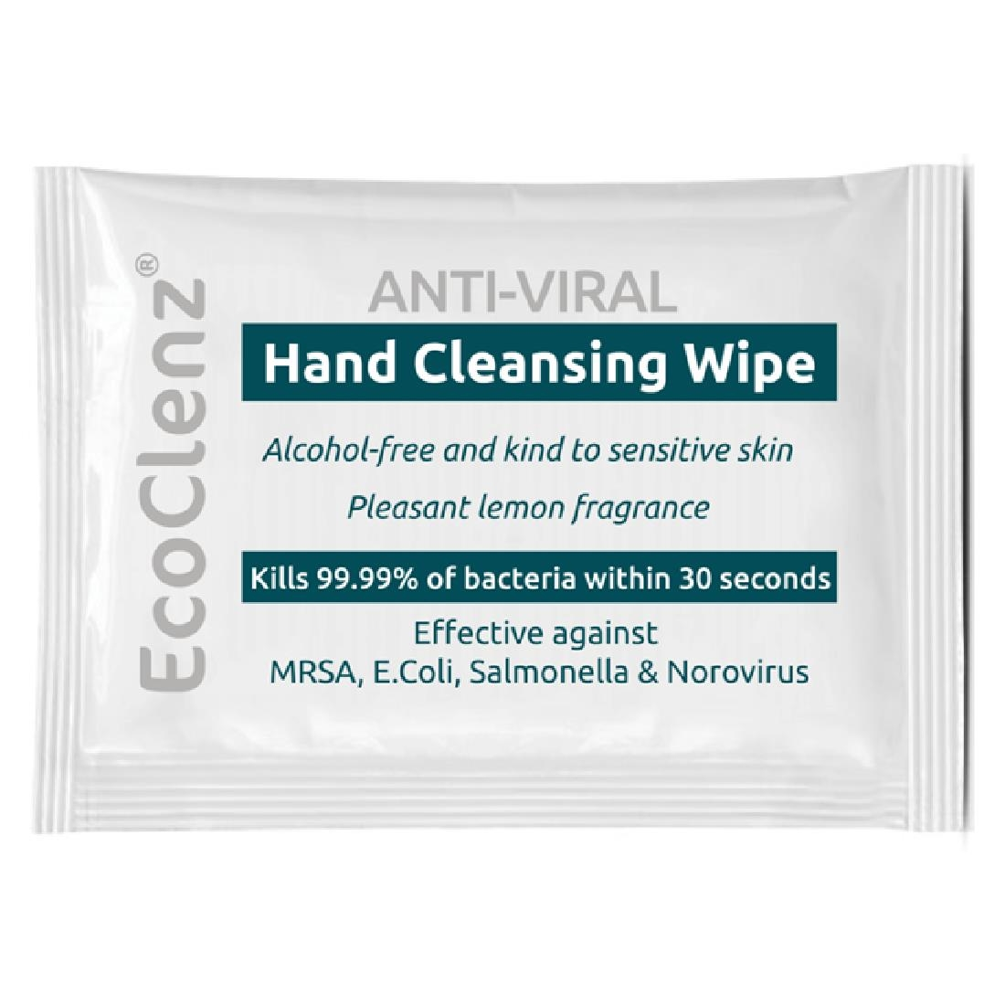 Image of EcoTech Alcohol Free Hand Cleansing Wipe Sachets (Box 1000) Pack of 1000
