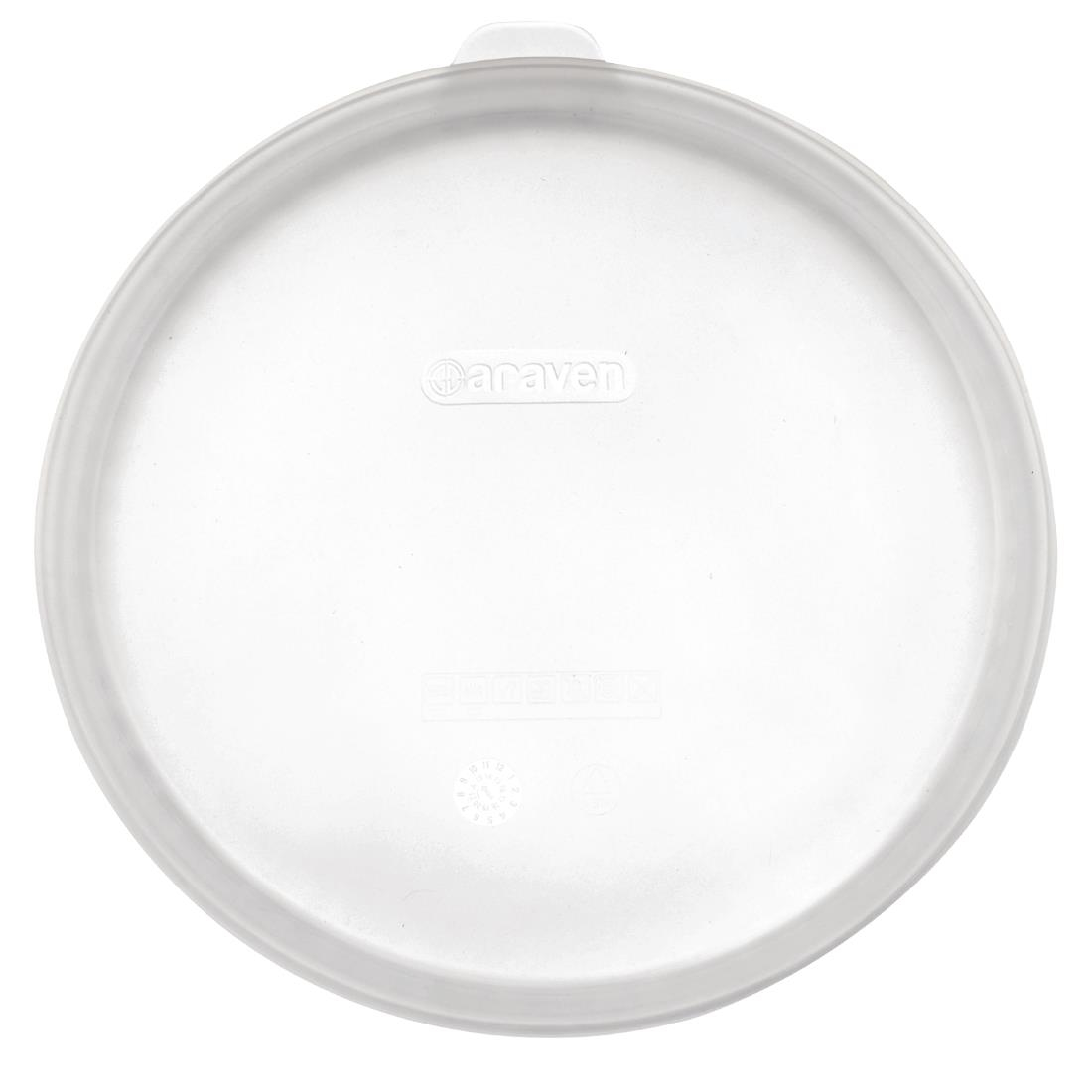 Image of Araven Round Silicone Lid Clear 133mm