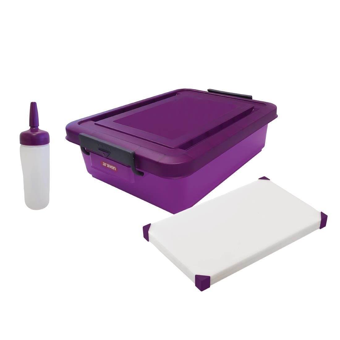 Image of Araven Anti-Allergic Food Prep Kit Purple