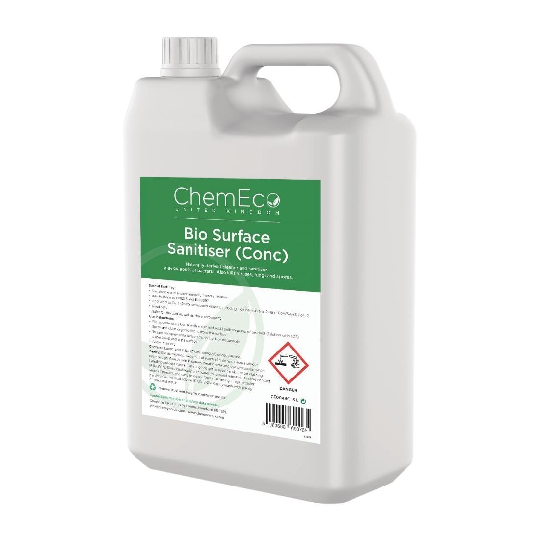 Image of ChemEco Bio Surface Sanitiser Concentrate 5Ltr (Pack of 2) Pack of 2