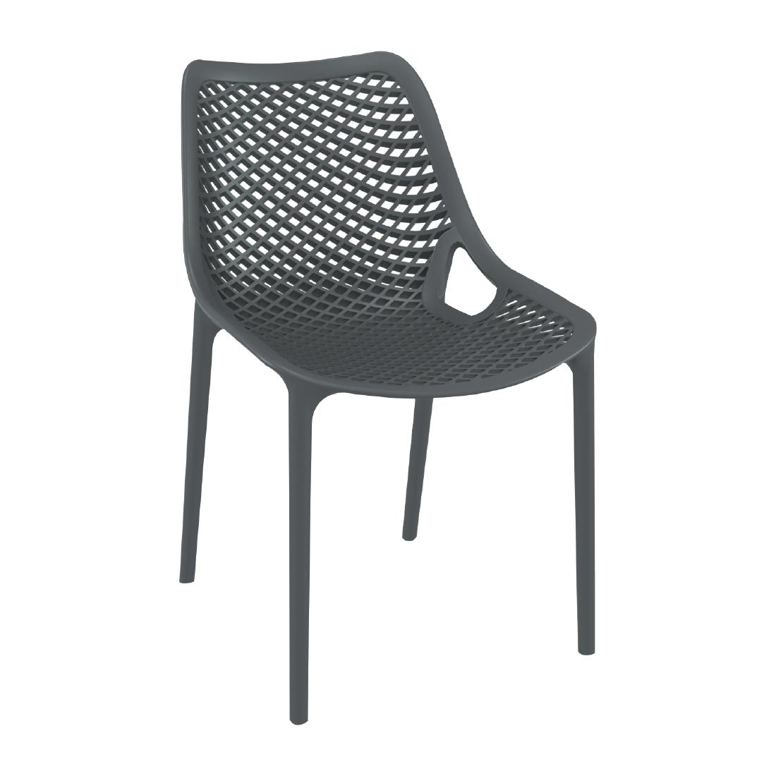 Image of Air Side Chair Anthracite Grey (Pack of 4) Pack of 4